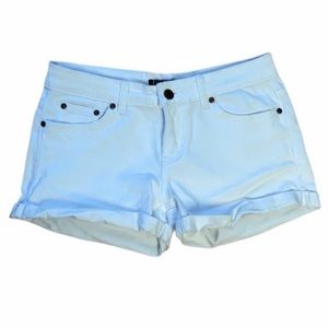 Discovery Solid White Denim Shorts, size 9